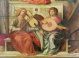 Giovanni Battista Cima da Conegliano - Detail of angel musicians from a painting of the Virgin and saints, 1496-99