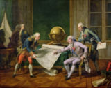Nicolas Andre Monsiau - Louis XVI (1754-93) Giving Instructions to La Perouse