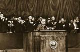Russian Photographer - Joseph Stalin on the rostrum, Election meeting in the Stalin Election District in Moscow, February 9, 1946