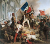 Jean-Victor Schnetz - Fighting at the Hotel de Ville, 28th July 1830, 1833