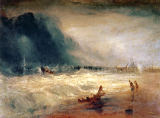 Joseph Mallord William Turner - Lifeboat and Manby Apparatus going off to a stranded vessel making signal  of distress , c.1831