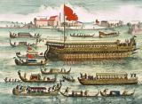 Pierre Mortier - Types of Named Shipping of the Venetians, in the Lido, 1693