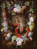 Gerard & Frans Seghers & Ykens - The Virgin and Child with a Garland of Flowers
