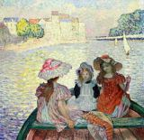 Henri Lebasque - Young Girls in a Boat, c.1900