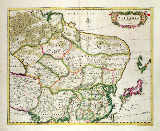 Unbekannt - Map of Mongolia showing part of Russia, Japan and China, c.1680, by Frederick de Wit