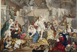 William Hogarth - Strolling Actresses Dressing in a Barn, illustration from 'Hogarth Restored: The Whole Works of the celebrated William Hogarth,