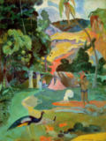 Matamoe or, Landscape with Peacocks, 1892 von Paul Gauguin