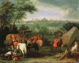 Adam Frans van der Meulen - The Siege of Tournai by Louis XIV