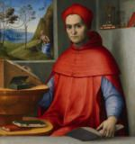 Lorenzo Costa - Portrait of a Cardinal in his Study, c.1510-20