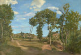 Jean Frederic Bazille - Landscape by the Lez River, 1870