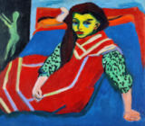Ernst-Ludwig Kirchner - Seated Girl , 1910
