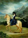 Francisco José de Goya y Lucientes - Portrait of Maria Teresa de Vallabriga on horseback, 1783