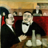 Tullio Garbari - The Intellectuals at the Cafe Rotonde, 1916