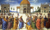 Pietro Perugino - Giving of the Keys to St. Peter, from the Sistine Chapel, 1481