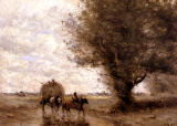 Jean-Baptiste-Camille Corot - The Haycart, c. 1860