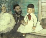 Edgar Degas - Comte Le Pic and his Sons