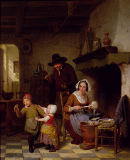 Basile de Loose - Pancake Day, 1845