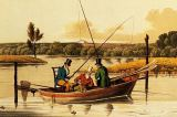 Henry Thomas Alken - Fishing in a Punt, aquatinted by I. Clark, pub. by Thomas McLean, 1820