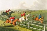 Henry Thomas Alken - Fox Hunting, aquatinted by I. Clark, pub. by Thomas McLean, 1820