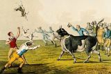 Henry Thomas Alken - 'Bull Baiting', pub. by Thomas McLean, 1820,