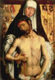Hans Memling - The Man of Sorrows in the Arms of the Virgin