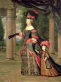 Pierre Mignard - Maria Theresa (1638-83) wife of Louis XIV, with her son the Dauphin Louis of France (1661-1711) after 1661
