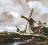 Jacob Isaaksz. van Ruisdael - Landscape with Windmills, near Haarlem, c.1650-52