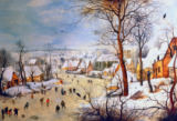 Winter landscape with Birdtrap of Pieter Brueghel der Ältere