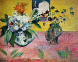 Paul Gauguin - Flowers and a Japanese Print, 1889