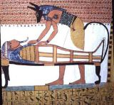 Egyptian 19th Dynasty - Anubis and a Mummy, from the Tomb of Sennedjem, The Workers' Village, New Kingdom