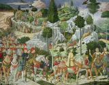 Benozzo di Lese di Sandro Gozzoli - The Journey of the Magi to Bethlehem, the right hand wall of the chapel, c.1460