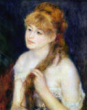 Pierre Auguste Renoir - Young Woman Braiding her Hair, 1876