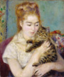Pierre Auguste Renoir - Woman with a Cat, c.1875