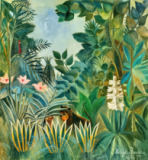 Henri J.F. Rousseau - The Equatorial Jungle, 1909