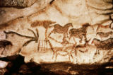 Unbekannt - Cave painting of horses and deer, c.15000 BC