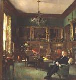 Sir William Orpen - Otto Beit in his study at Belgrave Square, 1913