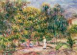 Pierre Auguste Renoir - The woman in white in the garden of Les Colettes, 1915