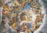 Giulio Romano - The Gods of Olympus, trompe l'oeil ceiling from the Sala dei Giganti, 1528