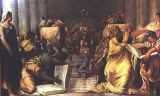 Jacopo Robusti Tintoretto - Christ Among the Doctors, early 1540s
