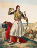 Louis Dupre - Demetrius Mavromichalis, a Greek soldier and patriot, 1825