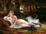 Francois Edouard Picot - Leda and the swan, 1832