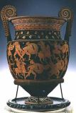 Sisyphus Painter - Red-figure volute krater depicting the Battle of the Greeks and the Amazons, Apulian