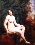 William Etty - Seated Female Nude