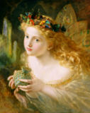 Sophie Anderson - 'Take the Fair Face of Woman, and Gently Suspending, With Butterflies, Flowers, and Jewels Attending, Thus Your Fairy is Made of