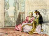 John Frederick Lewis - The Harem, plate 1 from 'Illustrations of Constantinople', engraved by the artist, 1837