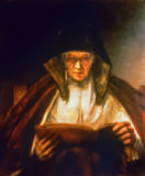 Harmensz van Rijn Rembrandt - Old Woman Reading