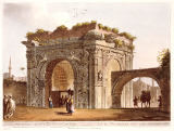 Luigi Mayer - A Triumphal Arch of Tripoli in Barbary, plate 24 from 'Views in the Ottoman Empire', pub. by Robert Bowyer (1758-1834) 1803