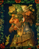 Giuseppe Arcimboldo - Autumn, from a series depicting the four seasons, commissioned by Emperor Maximilian II (1527-76) 1573