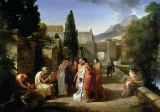 Guillaume Guillon Lethière - Homer Singing his Iliad at the Gates of Athens