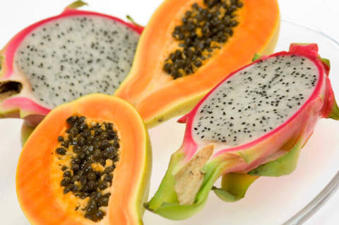 Papaya, Exotische Frucht, Gesunde Ernährung of artist Hans Georg Eiben (F1 Online), Half, Fare, Shot, Sweet, Photo, First, Court, Cross
